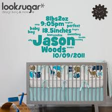Personalized Wall Decals For Nursery Personalized Nursery Wall Decals Thenurseries