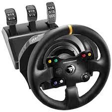 volante per xbox one thrustmaster volante pedali tx rw leather edition per xbox one