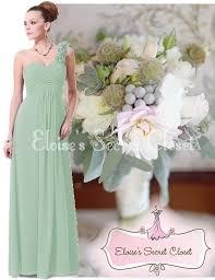 elise sage green corsage chiffon maxi prom evening bridesmaid