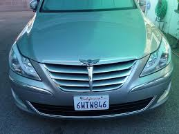 hyundai genesis with wings emblem genesis wing emblem installation process archive page 2