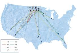 Allegiant Air Route Map by Minot Air Travel Drops In 2016 News Sports Jobs Minot Daily News