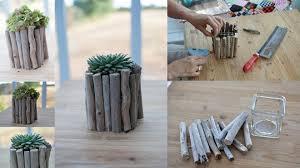 Driftwood Decor Diy Driftwood Decor Glass Vase Succulents