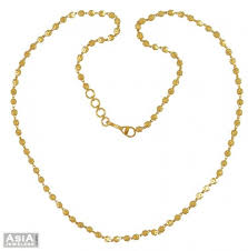22k yellow gold balls chain ajch54696 22k gold chain beaded