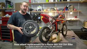 razor mx500 dirt rocket electric motocross bike razor mx dirtbike rear wheel repair mx 350 400 500 650 youtube