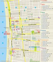 map of santa maps update 21051488 los angeles tourist attractions map los