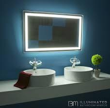 Bathroom Light Mirror by Mirrors Elegant Backlit Bathroom Mirror For Your Modern Bathroom