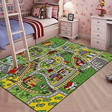 amazon com kids rug city map fun play rug 5 u0027 x 7 u0027 children area