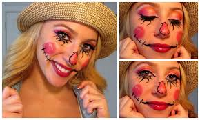 sweet scarecrow halloween make up tutorial youtube
