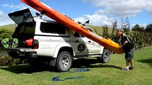 jeep kayak rack how to load u0026 unload your kayak on a roof rack viking kayaks