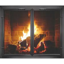 contemporary georgian masonry fireplace glass doors brick anew