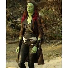 Gamora Costume Guardians Of The Galaxy 2 Gamora Jacket Filmsjackets