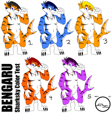 bengaru the sharksky color test by arbok x on deviantart
