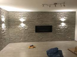 Wohnzimmer Design Wandgestaltung Steinoptik Wohnzimmer