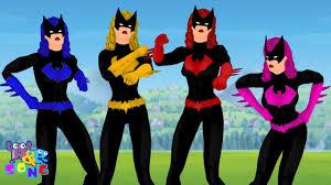 Pocoyo Halloween Costume Funny Batgirl Dance Macarena Style Finger Family Nursery Rhymes