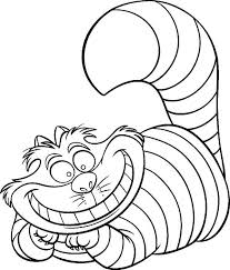 beautiful cheshire cat coloring pages 77 coloring kids