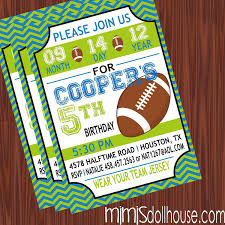 template simple personalized sports birthday invitations with