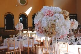 pink white gold wedding pink white gold silk flower centerpieces