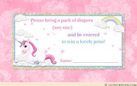 raffle baby shower unicorn baby shower raffle cards magical cloud personalized