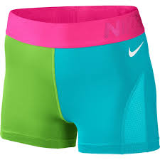 light blue nike shorts nike women s pro 3 hypercool colorblock training shorts intersport uk