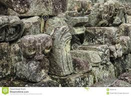 carved mayan animal head copan honduras stock photo image