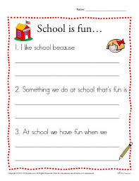 is fun writing prompt for kindergarten students