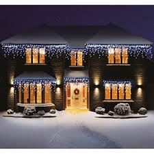 Outdoor Christmas Lights Sale Premier Led Outdoor Snowing Icicles Christmas Lights
