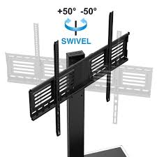 How High To Mount 50 Inch Tv On Wall Amazon Com Fitueyes Universal Tv Stand With Swivel Mount Height