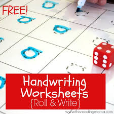 free handwriting worksheets roll and write