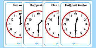 time primary resources clock o u0027clock half past page 7