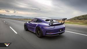 porsche gt3 gray purple beast vorsteiner goes to town on porsche 911 gt3 rs