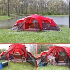 ozark trail 10 person 3 room xl family cabin tent ebay