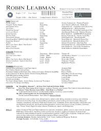 exles of actors resumes print acting resume template word robert pattinson acting