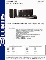 rca 5 1 dvd home theater system home theater system users guides
