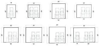 garage dimensions standard garage door sizes garage door dimensions single car average