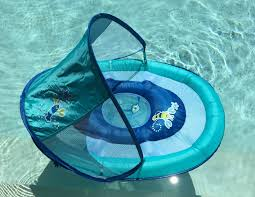 Swimways Baby Spring Float Sun Canopy Blue by Summer Swimtime U0026 National Learn To Swim Day Diva Likes