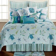 Coastal Quilts Blue Ocean Quilt Set Twin All Things And Beaches The Coastal