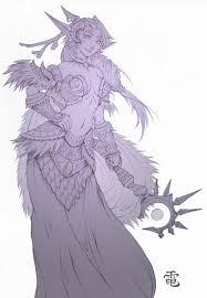 night elf druid sketch by striderden on deviantart