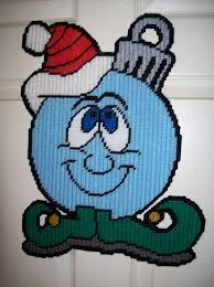 free plastic canvas ornaments completed size approximately 17