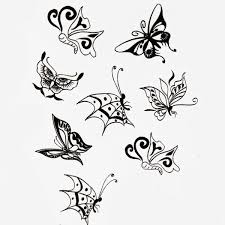 butterfly design insect waterproof temporary sticker paper