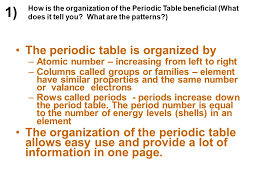 how is the periodic table organized how how is the periodic table organized with relation to atomic