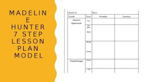 lesson plan template hunter madeline hunter lesson plan template w planner helpers by