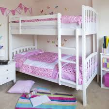 white wooden bunk bed for little bedroom ideas with sleek