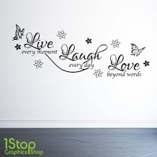 luxury idea live laugh wall decals large print white sticker my
