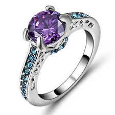 amethyst wedding rings size 8 purple amethyst wedding ring 18k white gold filled women s