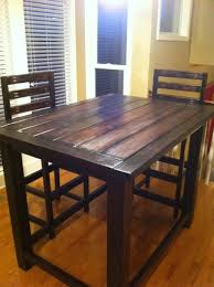 Kitchen Bar Furniture Diy Rustic Counter Height Table Plan