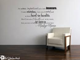 Marilyn Monroe Wall Decor I Am Good Marilyn Monroe Quote Thestickerhut Com