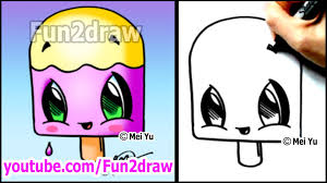 How To Draw Halloween Things Step By Step Fun Cartoons How To Draw Summer Toons Popsicle Youtube