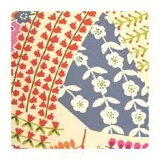 Retro Upholstery Fryetts Teatime Blue Patchwork Fabric Curtain Upholstery Ebay