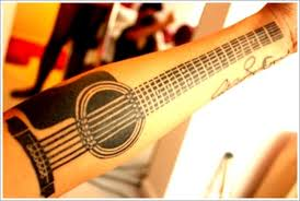 guitar tattoo designs acoustic guitar tattoo tribal guitar