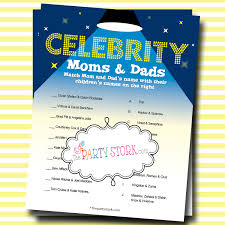 celebrity baby name shower game